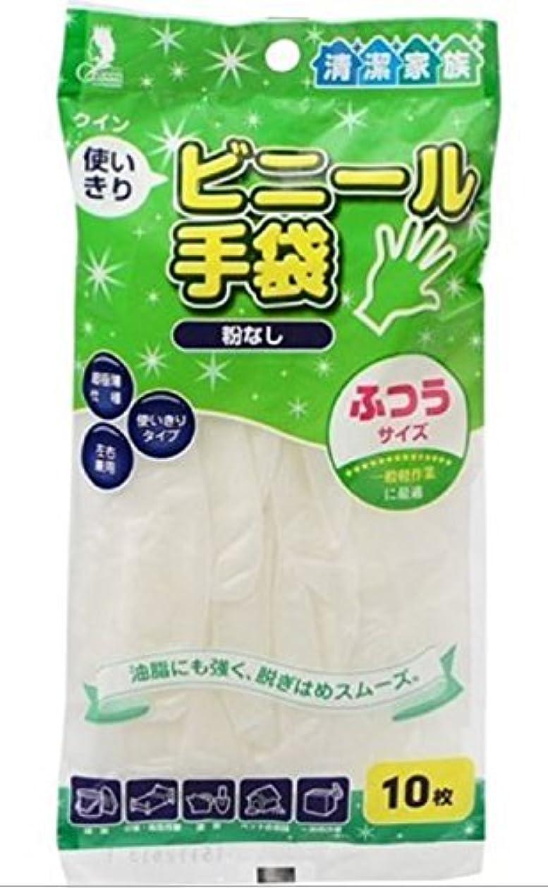 膨らみスノーケルコントラストクイン 使いきりビニール手袋 10枚入 ふつうサイズ