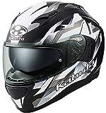 オージーケーカブト(OGK KABUTO)バイクヘルメット フルフェイス KAMUI3 STARS(スターズ) フラットブラックシルバー (サイズ:XL) 587345