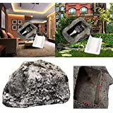 Vacally 1x Key Rock Hider Fake Rock Artificial Stone Key Hider Hide A Spare Key Rock for Home & Garden Decor
