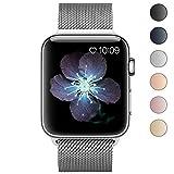 BRG For apple watch バンド,ミラネーゼループ アップルウォッチバンド アップルウォッチ1 apple watch series 2 apple watch series 3 ステンレス留め金製(38mm,シルバー)18ヶ月保証付き