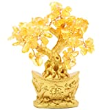 JapaNice(ジャパナイス) 招財樹 金のなる木(椀) シトリン 黄水晶 BC774