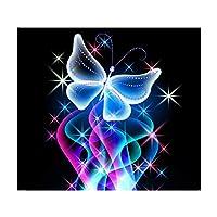 フルダイヤモンドアート カラービーズストーン絵画 クロスステッチキット 装飾 ホーム デコレーション - 蝶