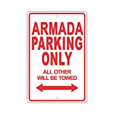 """Best Armadas - Nissan Armada駐車場のみすべては他Towed Ridiculous面白いノベルティガレージアルミサインプレート 8""""x12"""" 5890S Review"""