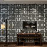 (ハンメロ)HANMEROリピング 部屋 ふすま diy リフォーム用おしゃれな迷宮壁紙 のりなし はがせる ビニールクロス 1ロール(53cm×10m) ダークグレー