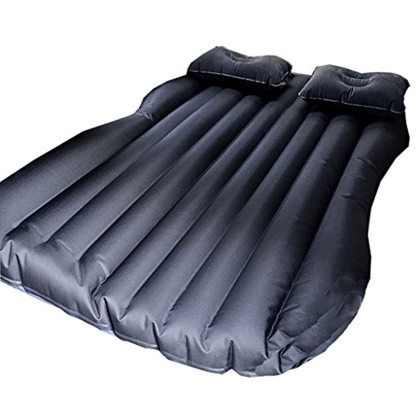 隠有力者お祝いQL エアベッド - カーマットレス折り畳み式カーインフレータブルリアトラベルベッドカーベッド エアマットレス (Color : Black)