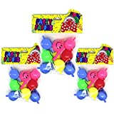 Party Smiley Face Whistles - Pack of 24 - Multiple Colours