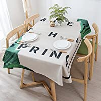 LWT テーブルクロスの布のランナーティーテーブルの布厚いコットンリネンのレストランのコーヒーテーブルの布の家の家族のテーブルクロスのキッチンテーブルクロスホーム (Color : H, Size : 140*220cm (55.1*86.6in))