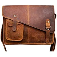 TUZECH Buffalo Hunter Leather Bag Laptop Messenger/College Bag Men and Women Fits Laptop Up to