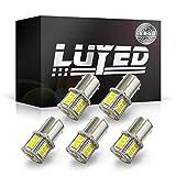 LUYED LEDバルブ S25 BA15S(P21W) 5630SMD 5個入り 18連 800ルーメン ホワイト バックランプ ブレーキランプ テールランプ ターンシグナルランプ