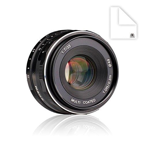 Meike mk-nm-35–1.735mm f 1.7大口径マニュアルフォーカスレンズAPS - C for Nikonミラーレスカメラj5V3v2V1j1j2j3j4with Vokingレンズクリーニングクロス