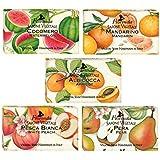 【5種類セット】フロリンダ フレグランスソープ フルーツの香り 95g×5種セット(ウォーターメロン?マンダリン?アプリコット?ホワイトピーチ?ペア)