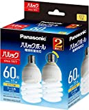 パナソニック 電球形蛍光灯 パルックボール 口金直径17mm 電球 60形 クール色 2個入り EFD15ED11EE17F22T