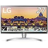 LG モニター ディスプレイ 27UL650-W 27インチ/4K/DisplayHDR400/FreeSync/IPS非光沢/HDMI×2、DisplayPort/高さ調節、ピボット対応