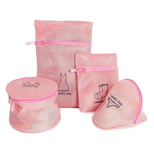 女の子 ランドリーネット かわいいです ピンク 洗濯ネット 下着 パンツ 洗濯袋セット 見栄えの良いです 旅行袋 4枚セット