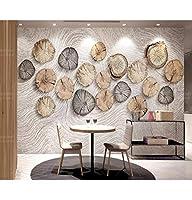 Wuyyii 壁紙レトロ3 Dウッドホイール木目テレビ背景壁紙家の装飾寝室のリビングルーム3 D壁紙