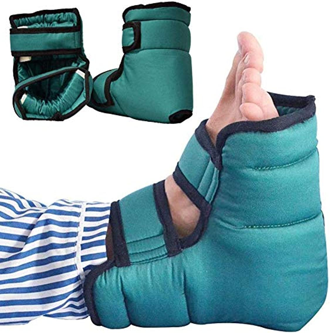 証人毎年バルーン抗床ずれヒールプロテクター枕、圧力緩和ヒールプロテクター、患者ケアヒールパッド足首プロテクタークッション、効果的な床ずれおよび足潰瘍緩和フットピロー、1ペア