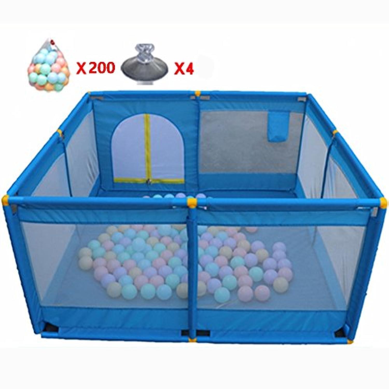 ボールを持つポータブル屋内屋外の赤ちゃんの遊び場子供の子供は、ペンルームを折り返したオレンジ色の布8分割パネルを折った (サイズ さいず : 200 Balls)