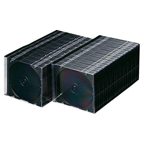サンワサプライ スリムBD DVD CDケース 1枚収納×1...