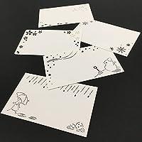 メッセージカード【0002:シーズン】(レーザーカッター・名刺サイズ)1セット5種各4枚(合計20枚)