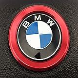 BMW i8 ルック アルミ ステアリング センターリング ドレスアップカバー (レッド)