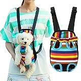 ペットバッグ 抱っこおんぶ バック リュックサック 犬用キャリアバッグ スリング 中小型犬 マルチカラー2WAY 散歩ハイキング (M(2.5-4キロ))