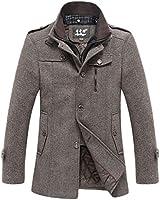 WantDo ピーコートメンズ メンズファッション トレンチコート メンズコート あったか冬防寒対策 高級素材仕様 カッコ良い オシャレ