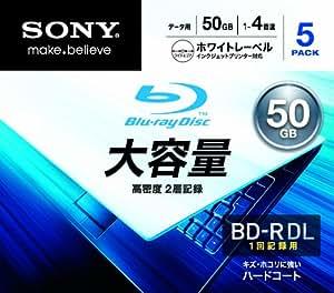 SONY データ用BD-R 追記型 片面2層50GB 4倍速 プリンタブル 白 5枚P  5BNR2DCPS4