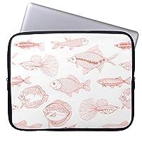 Recaso(レカソ)魚 ラップトップスリーブ 13.3インチ PCインナーバッグ 防水 マックブックケース ラップトップ ノートパソコン