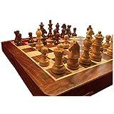 ChessCentralの磁気旅行木製チェスセット
