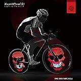 XuanWheel ホイールライト APP搭載 自転車用タイヤライト LED ホイールライトホイールライトイルミネーション 防水 事故防止 S1単腕