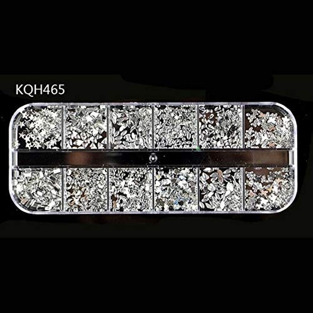 裁判所補充集中MEI1JIA CELINEZL 3ピースラインストーン3Dクリスタルクリアストーン宝石真珠DIYネイルアートデコレーション(KQH465) (色 : KQH465)