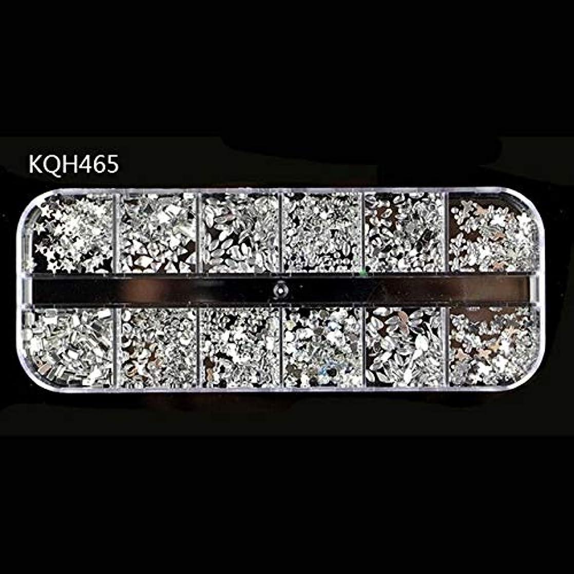 位置する虐殺結果としてMEI1JIA CELINEZL 3ピースラインストーン3Dクリスタルクリアストーン宝石真珠DIYネイルアートデコレーション(KQH465) (色 : KQH465)