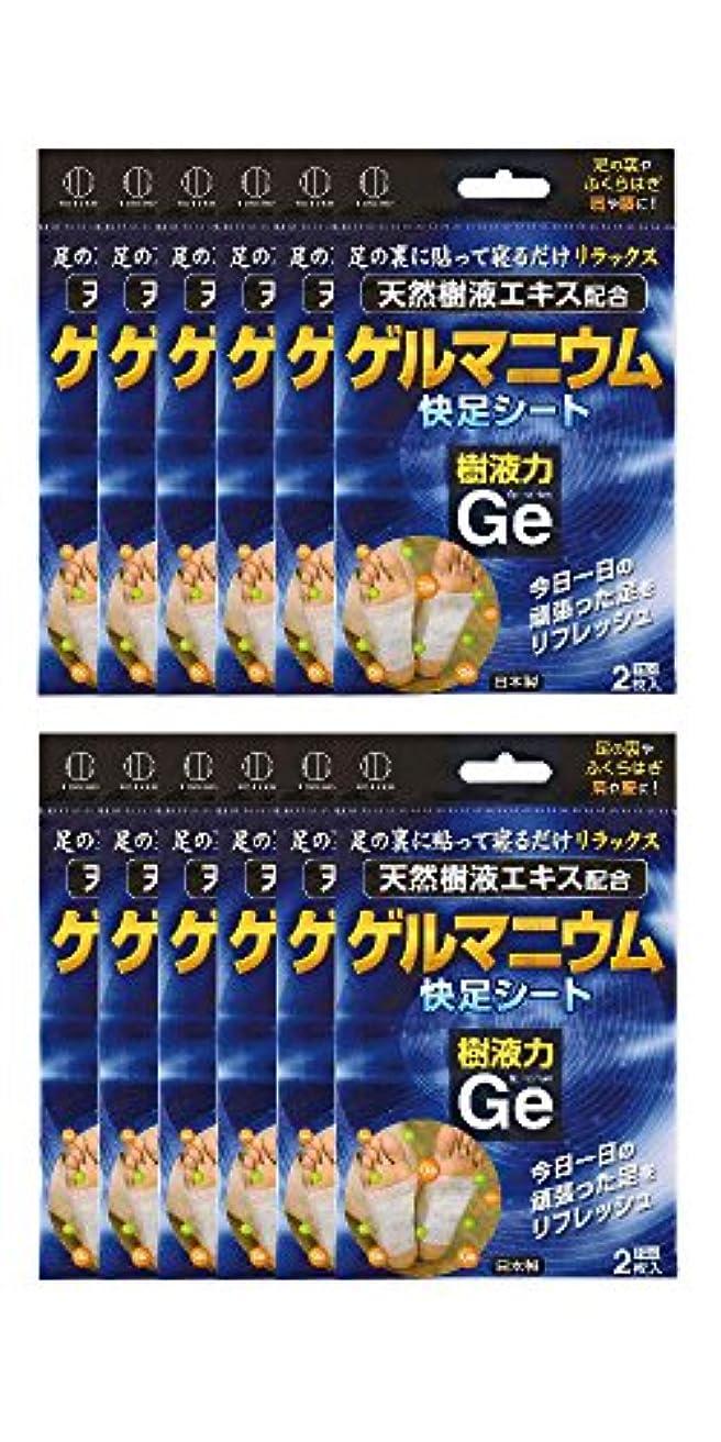 支給高潔なバーマド樹液力 ゲルマニウム 快足シート (12個セット) 2334