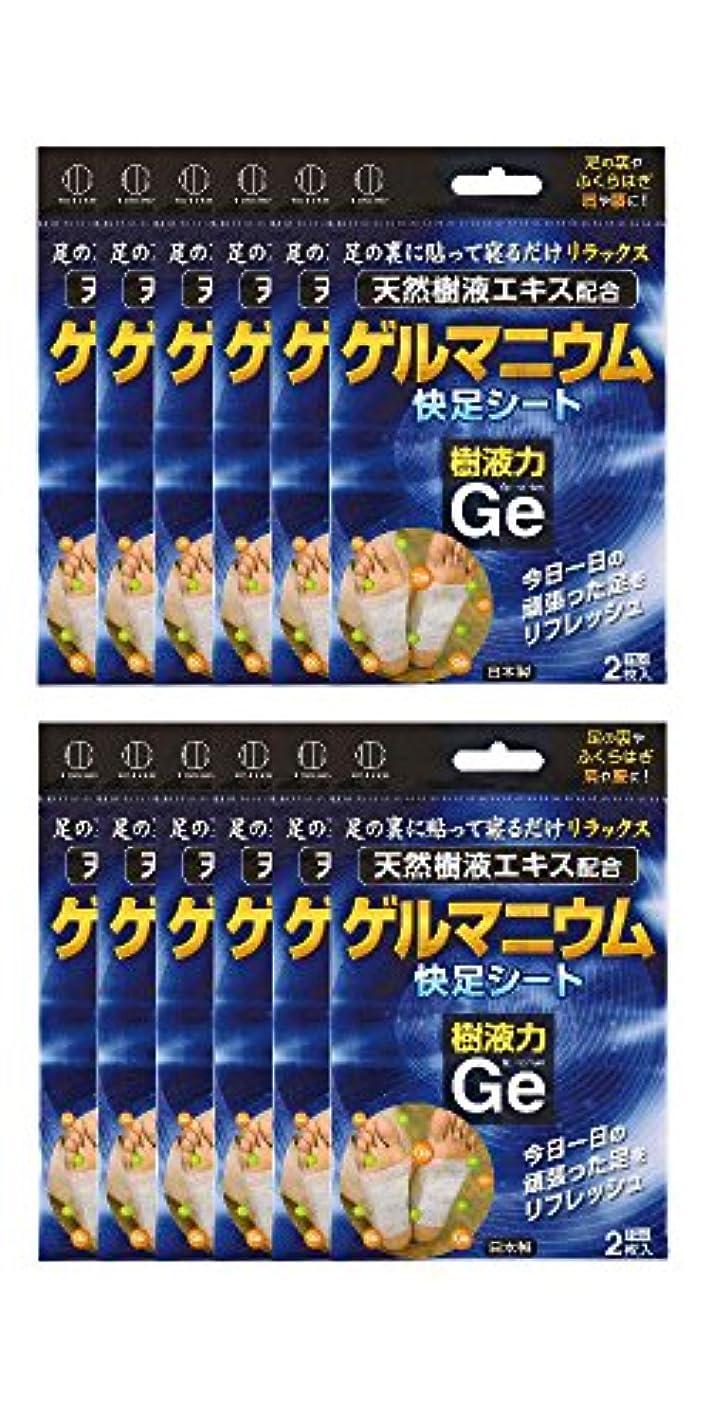 たまにルーフ傑出した樹液力 ゲルマニウム 快足シート (12個セット) 2334