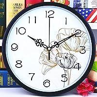 Luoshangqing 読みやすい掛かる壁時計屋内発光壁時計時計時計時計シンプルな寝室のリビングルーム (Color : L - 26cm)