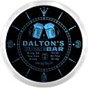 LEDネオンクロック 壁掛け時計 ncp1608-b DALTON 039 S Home Bar Beer Pub LED Neon Sign Wall Clock