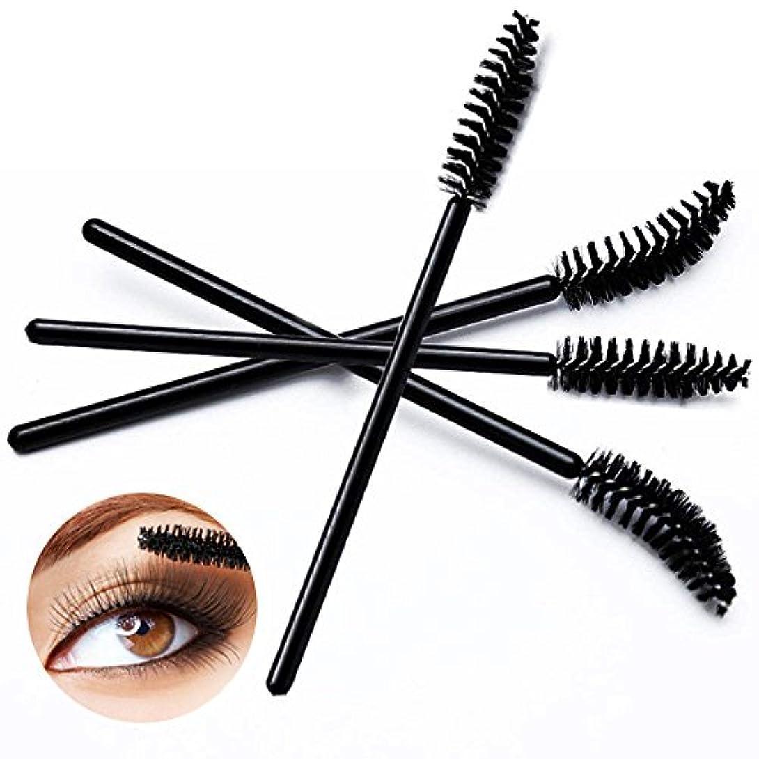 媒染剤質素な支給Vi.yo まつ毛ブラシ 使い捨て メイクブラシ エクステンション 睫毛エクステ用 50セット ブラック