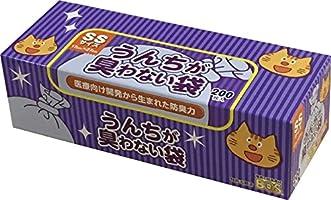 驚異の防臭袋 BOS (ボス) うんちが臭わない袋 貓用うんち処理袋【袋カラー:ブルー】 (SSサイズ 200枚入)