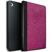 stuff4PU Book/カバーケースfor Apple iPad Mini 4タブレット/ Aquaブルーデザイン/レザーパッチ効果 MR-IPM4-TSBS-MD-LEATHER-PK