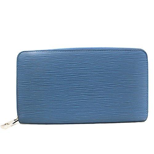 LOUIS VUITTON(ルイヴィトン) エピ ジッピーオーガナイザー ラウンドファスナー 長財布 ブルー M60619 (中古) 青 財布