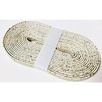 ディアレザー(鹿革) 刀 柄糸?下げ緒 三つ折り紐 ★1m単位で切り売り★ ※写真の場合は4m巻きですので、数量は『4』となります