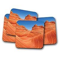 4セット - アリゾナ砂漠コースター - USAアメリカ砂風景ヒルズギフト#16943