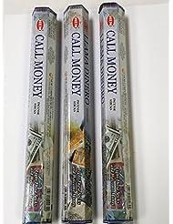 コールMoney 3ボックスof 20 = 60裾Incense SticksバルクFragrance ~インド