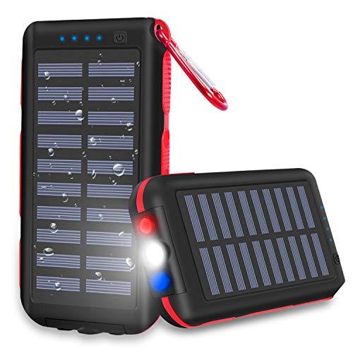 モバイルバッテリー ソーラー 25000mah 大容量急速充...