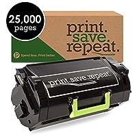 印刷。保存。繰り返します。Lexmark 620hg高イールドリサイクルトナーカートリッジmx710、mx711、mx810、mx811, mx812[ 25, 000ページ]
