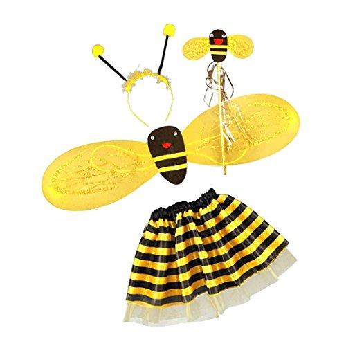 4点セット 女の子 子供 蜂 ビー ハロウィーン コスプレ ...