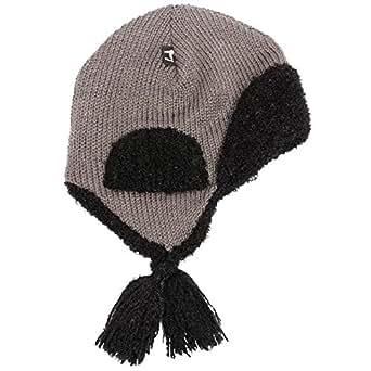 (ランジェレイン) L'Angelaine レディース・タッセル ニット帽 グレイブラック