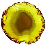 【N2 stone Natural】 天然石 瑪瑙 (メノウ・アゲート) スライス・スラブシリーズ / ジオード・結晶・鉱物・原石・標本   (14: 茶系(染なし), 約98x92x5.5mm, 原産地:ブラジル)