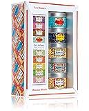 (KUSMI TEA) クスミ ティ ロシアン ブレンド ミニチュア ギフト セット ウィズ インフューザー (25g×5缶、インフューザー1個付) [正規輸入品]
