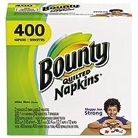 Bounty–キルト風ナプキン、1-ply、12.2X 12、ホワイト、200/パック、400/カートン06356( DMI Ct